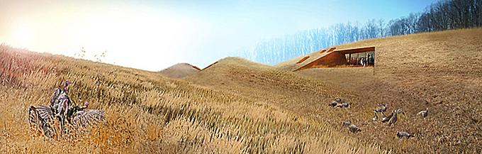 Les troglos du troisième millénaire : un oeuf ouvert dans la terre