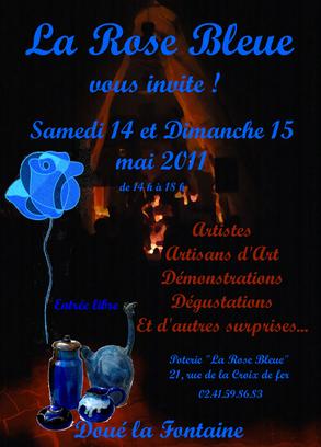 Manifestation artistique à la Rose Bleue