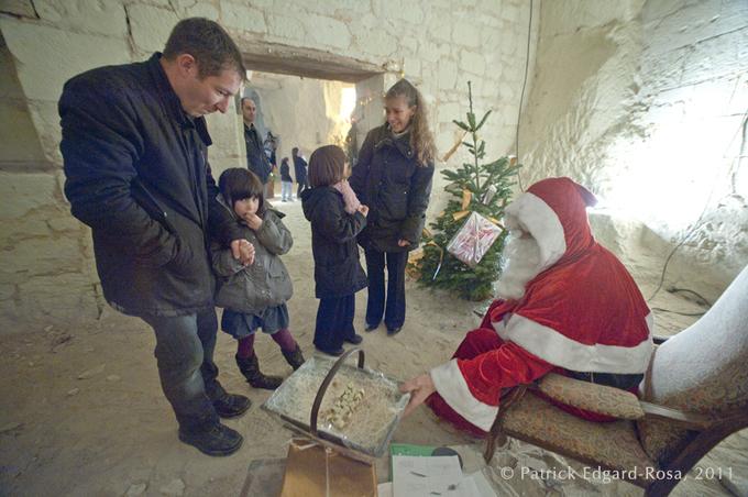 Le Père Noël s'est arrêté à Parnay.