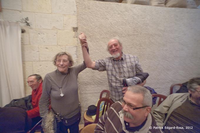 """Dans l'assemblée deux des précurseurs du renouveau troglodytique, Annie Brétheon et """"Nanard """" Foyer"""