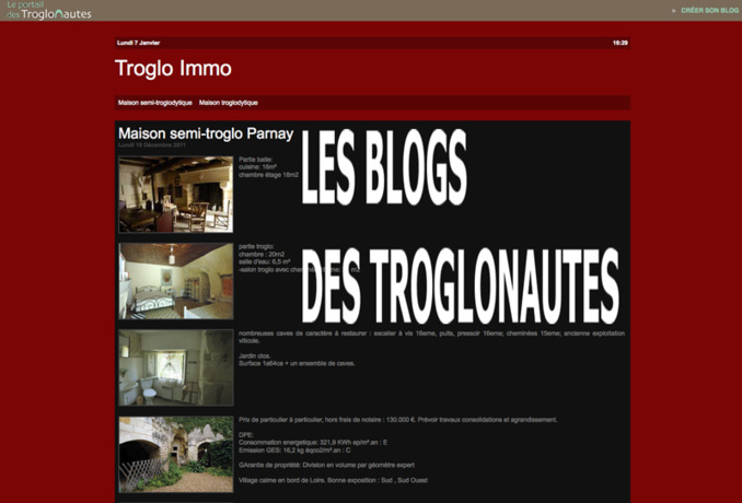 Les blogs des troglonautes