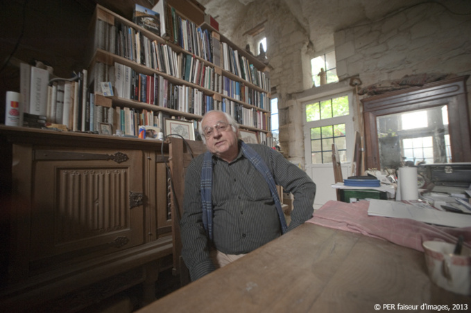 Claude Khan chez lui à Souzay-Champigny