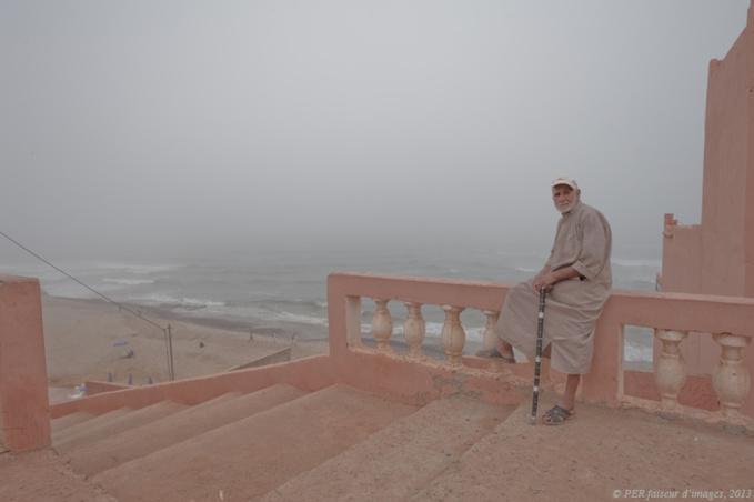Etretat, rouge Maroc