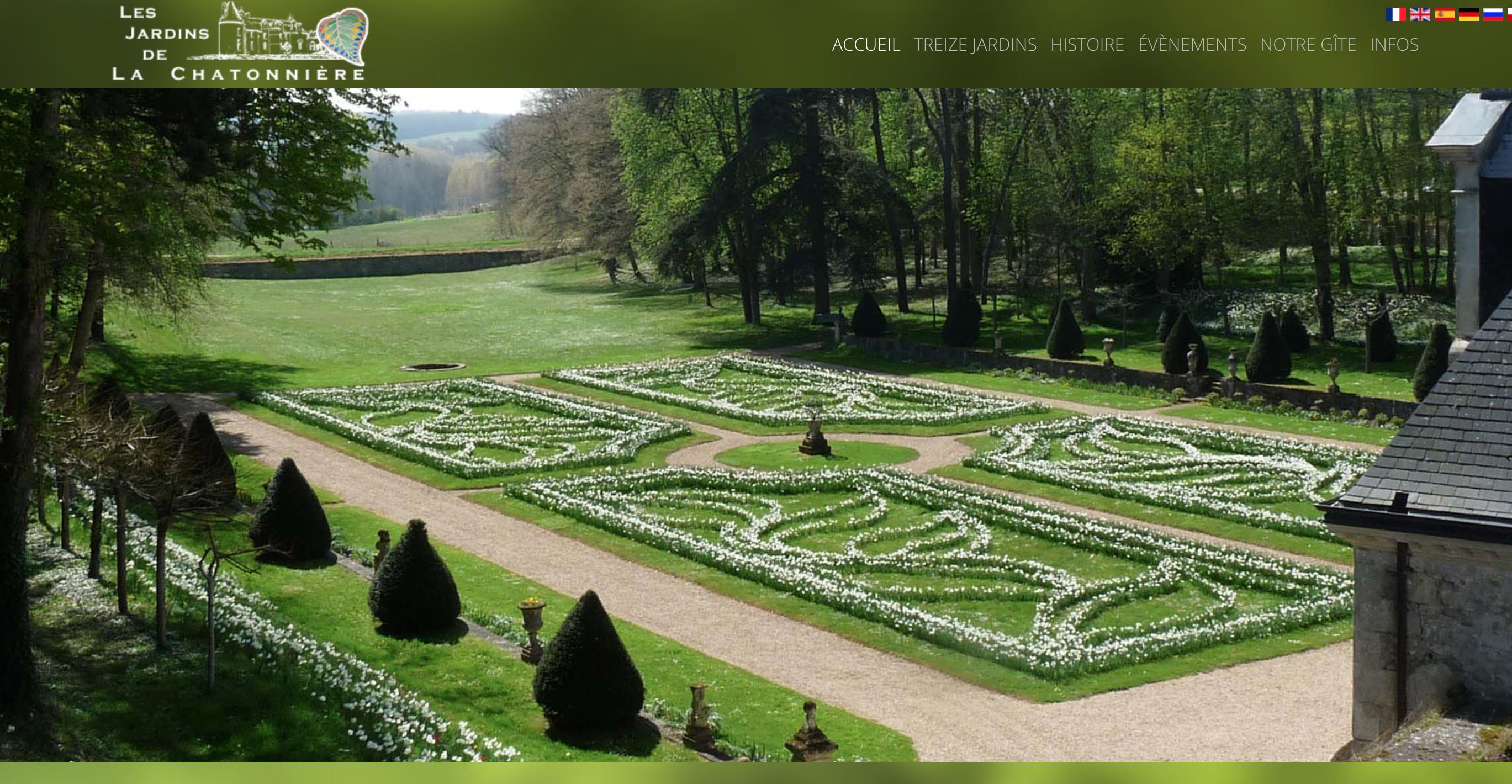 Les jardins du château de la Chatonnière