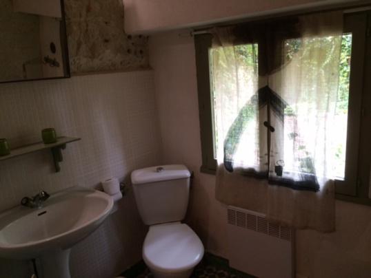 salle de bain troglo, douche et WC