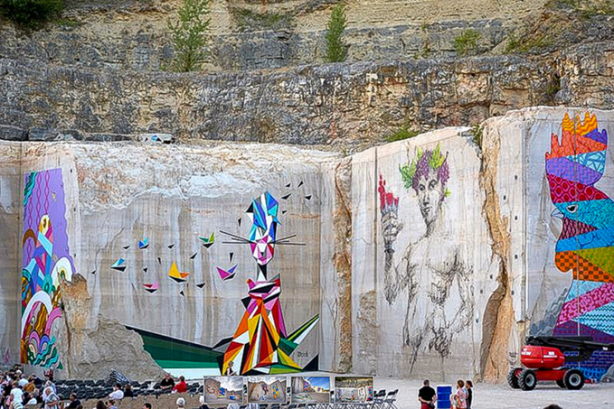 Street art on the rocks