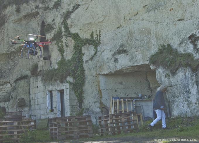 Drôles de drones à Montsoreau
