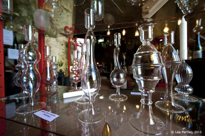 L'atelier de verre en troglo