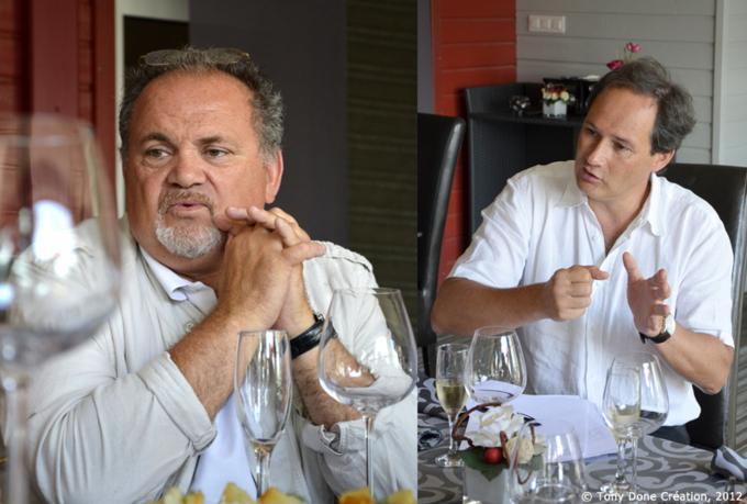 Claude Goaty  et l'oenologue Jean-Michel Monnier