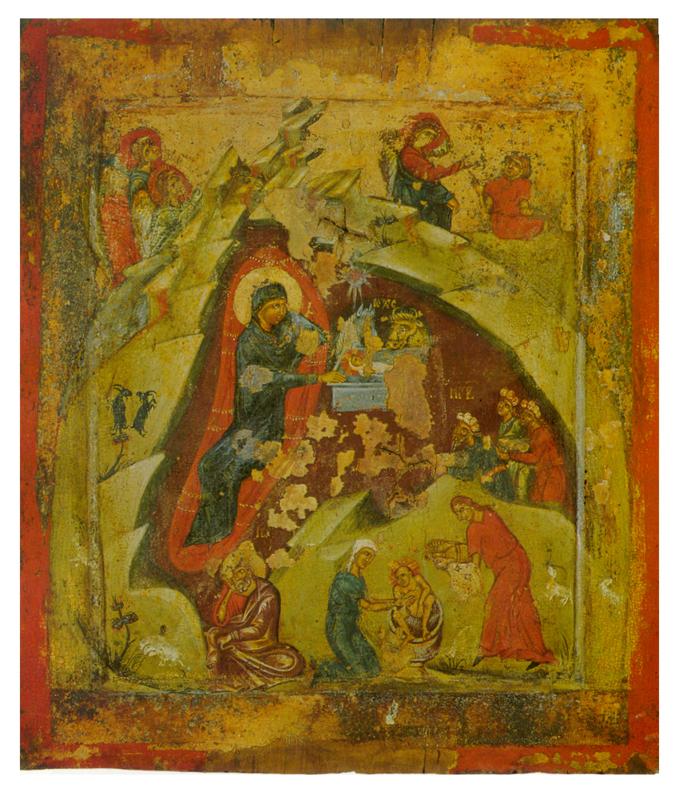 Nativité, icône de Kastoria