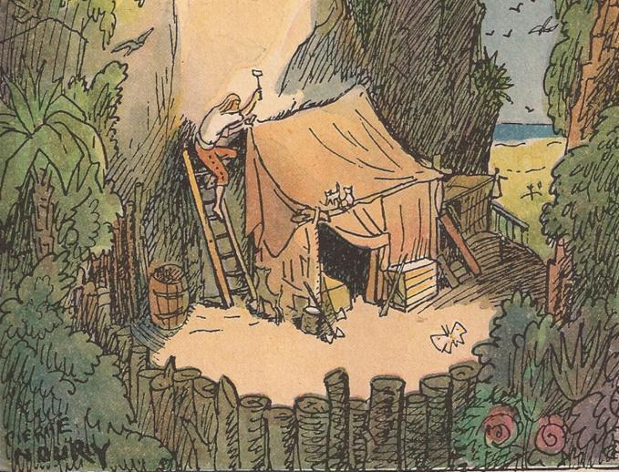 De la littérature souterraine : Daniel Defoë, ou l'habitat refuge de Robinson Crusoe