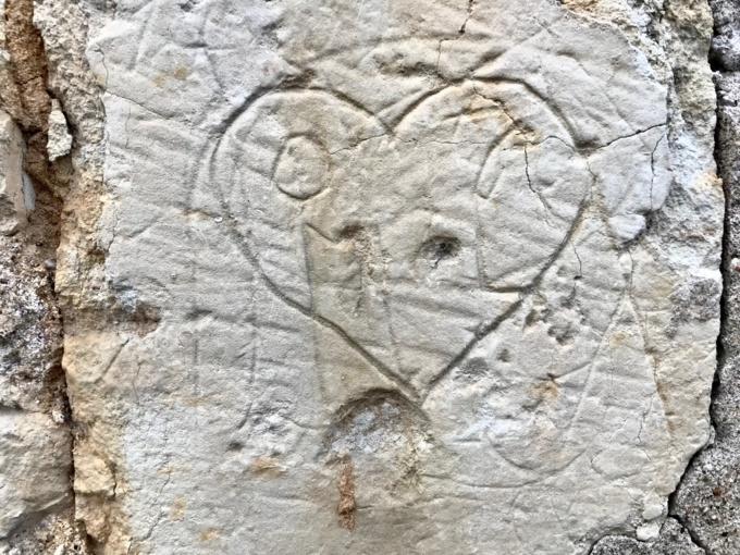 Graffitis et tuffeau : le mur de ma voisine