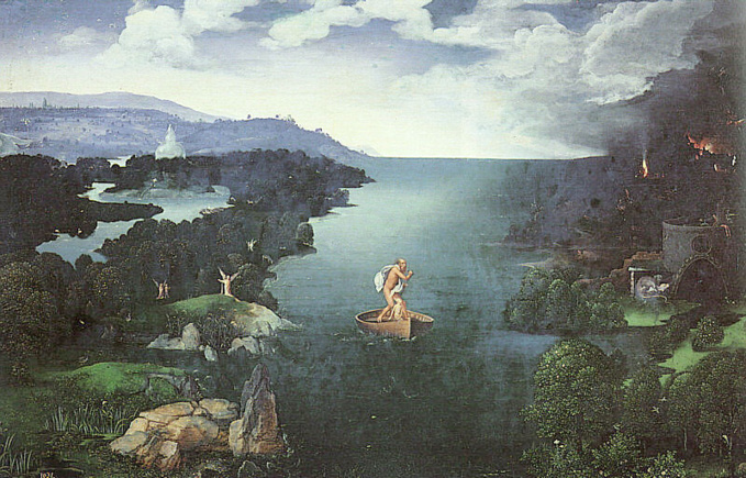 Charon on the Styx. Painting by Joachim Patenier