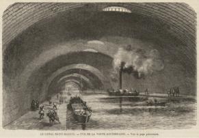 des bataux à vapeur sous Paris