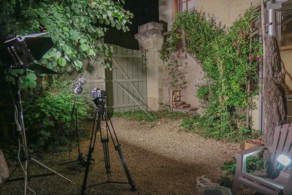 installation du matériel pour les prises de vues en extérieure le Mardi 5 Septembre à partir de 22h..