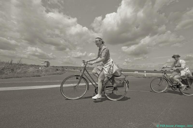 Vélo, rétro, coteau