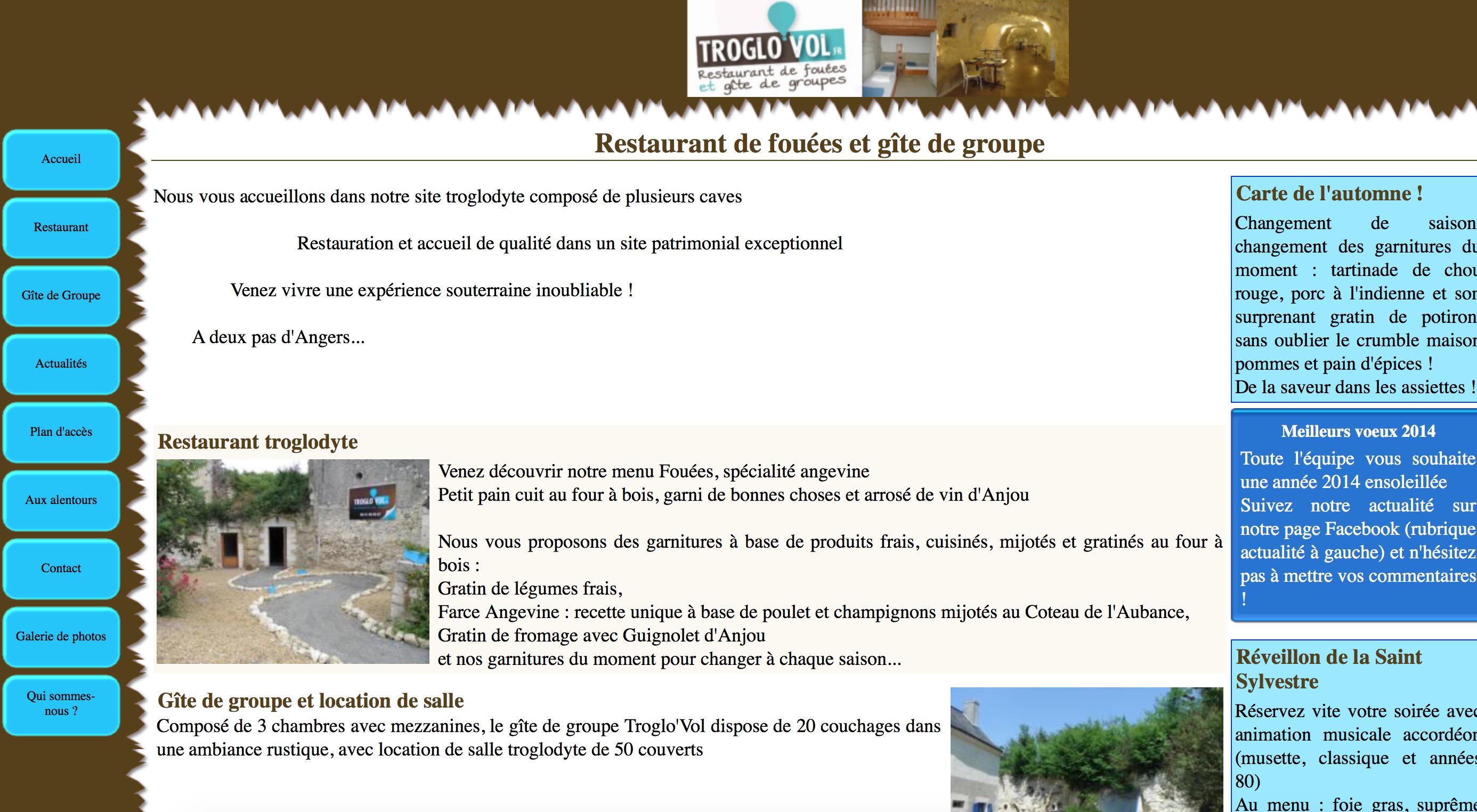 Gîte de groupe et restaurant Troglo vol